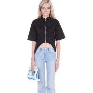 Silent Damir Doma Ladies Black Jacket Short Sleeve